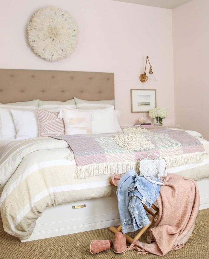 blush bedroom with juju hat