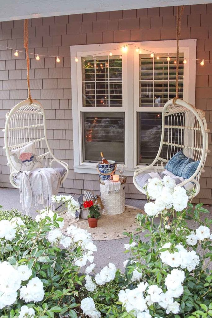 summer front porch swings
