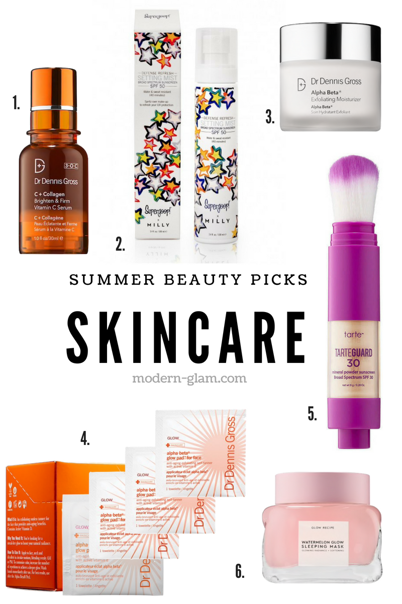 summer beauty picks - skincare