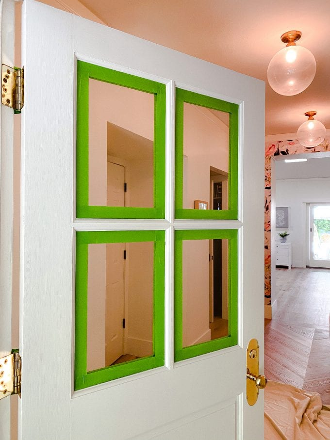 how to paint door while on hinges