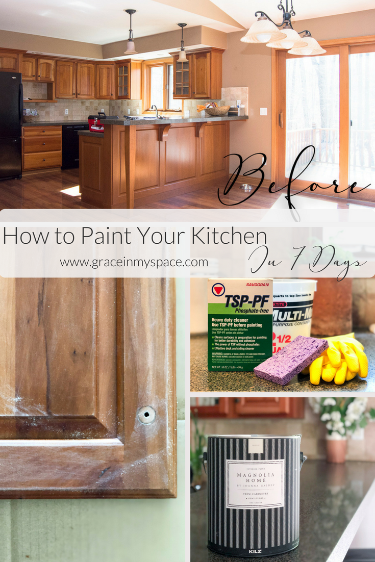 How to Paint Your Ktichen Pin with Grace in My Space DIY Projects