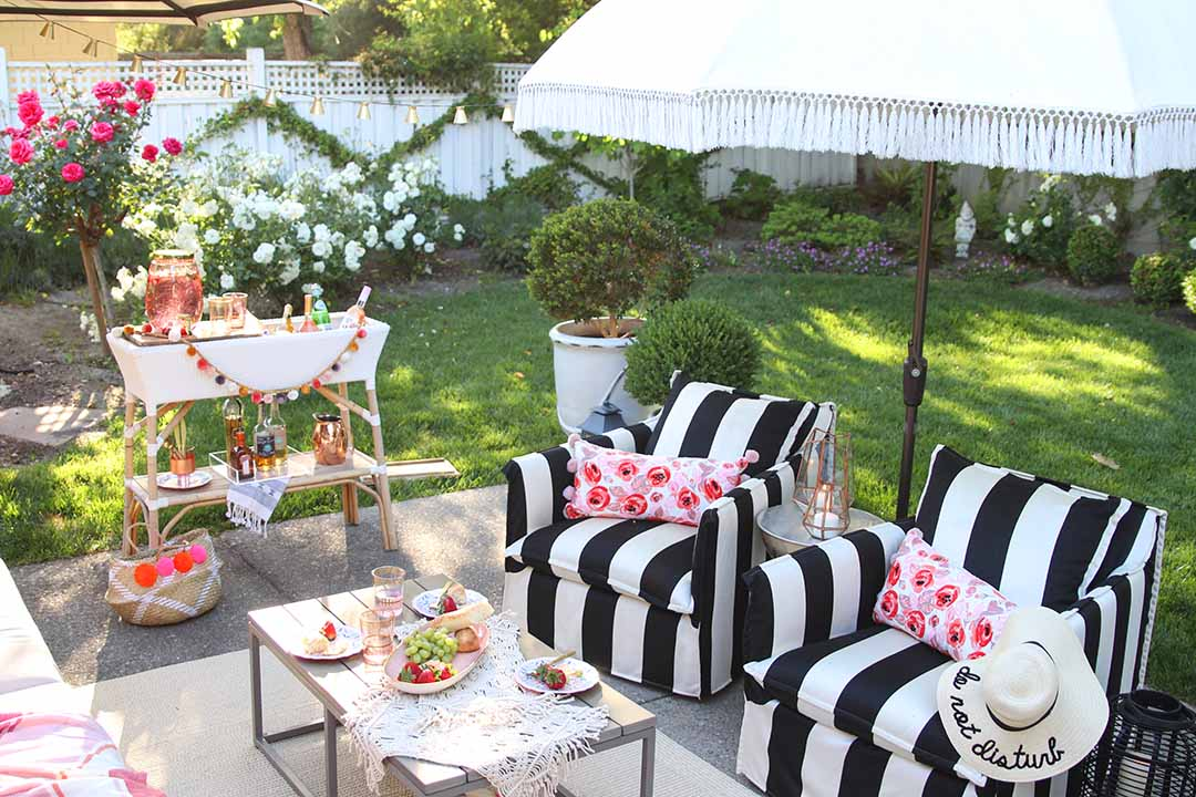 Backyard Patio Decorating Ideas patio decorating ideas: 7 simple summer updates - modern glam