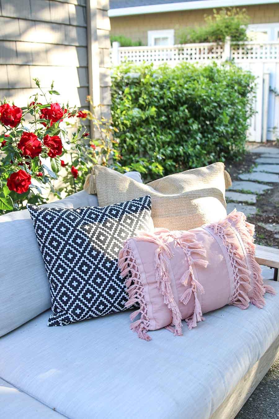 Patio Decorating Ideas. Outdoor Pillows