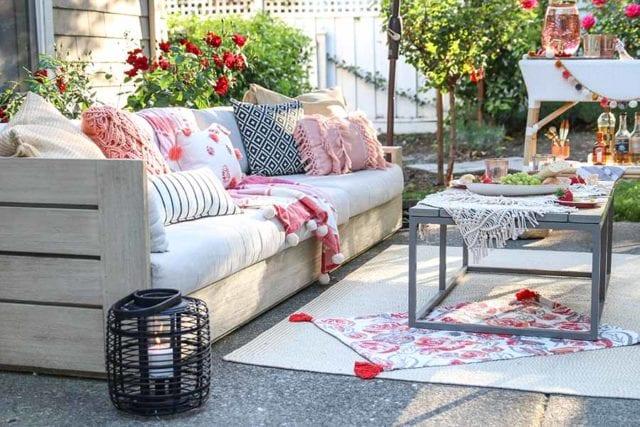 Backyard sofa