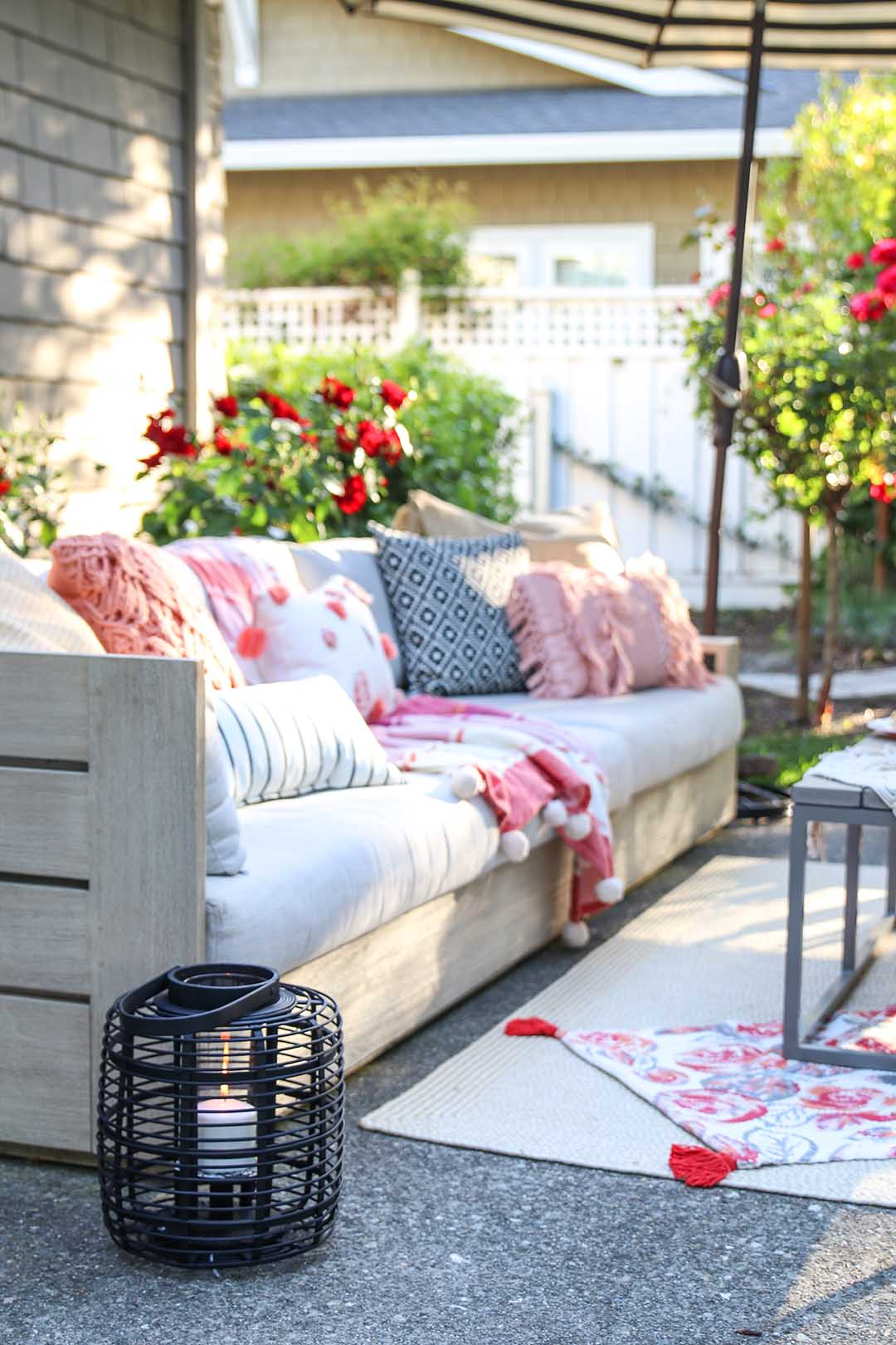 Patio Decorating Ideas: 7 Simple Summer Updates - Modern Glam on Basic Patio Ideas id=63764