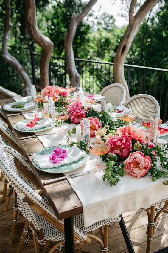 Garden Bridal Shower & Wedding Party Ideas