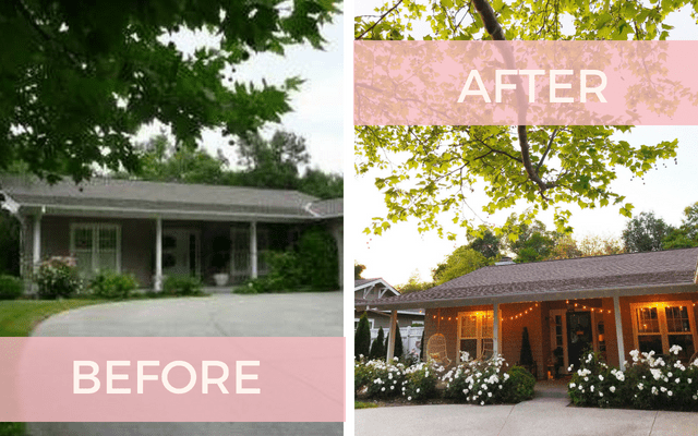 before and after modern farmhouse