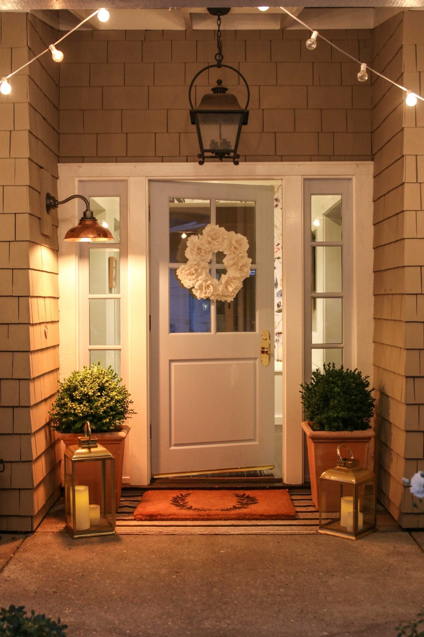 front door at night