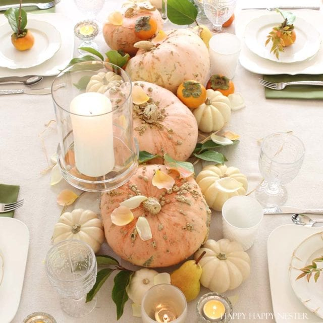 Blush fall table