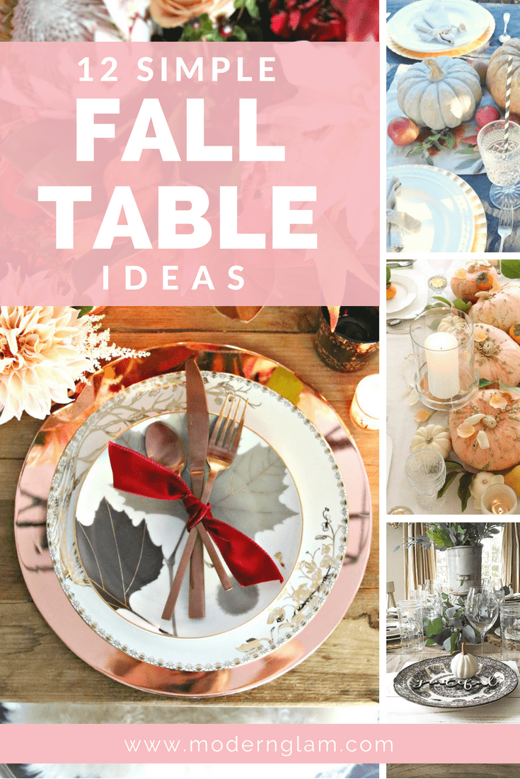 Simple Fall Table Ideas
