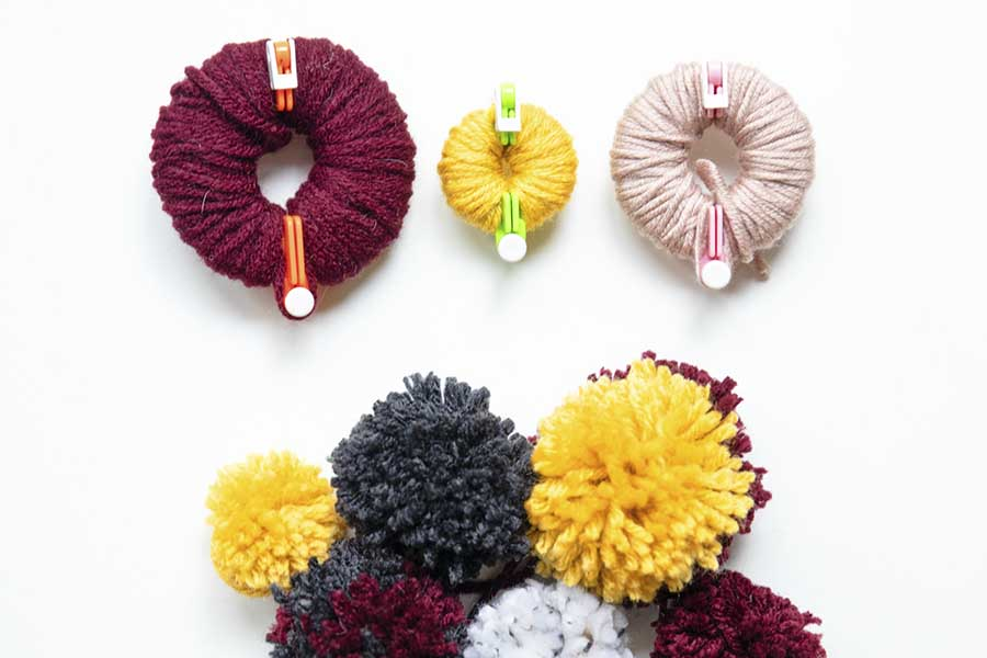 easy fall craft pom pom garland