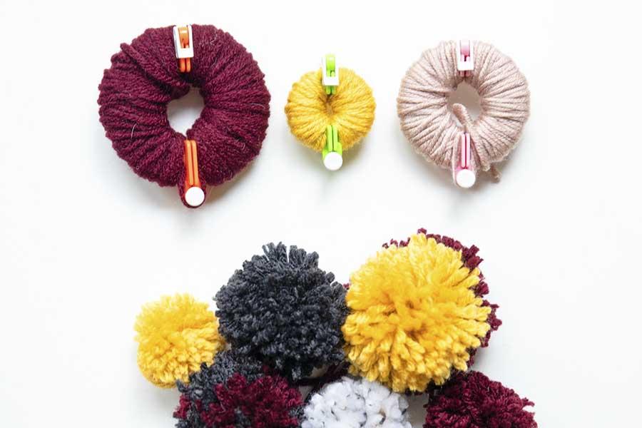 easy fall craft pom pom garland