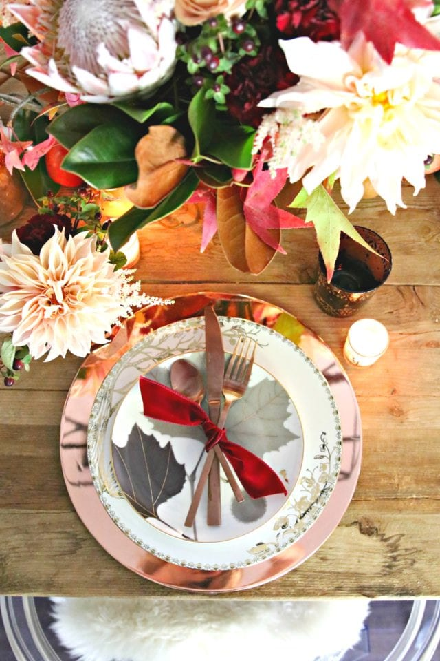 rose gold fall table