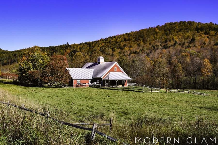 Vermont fall barn