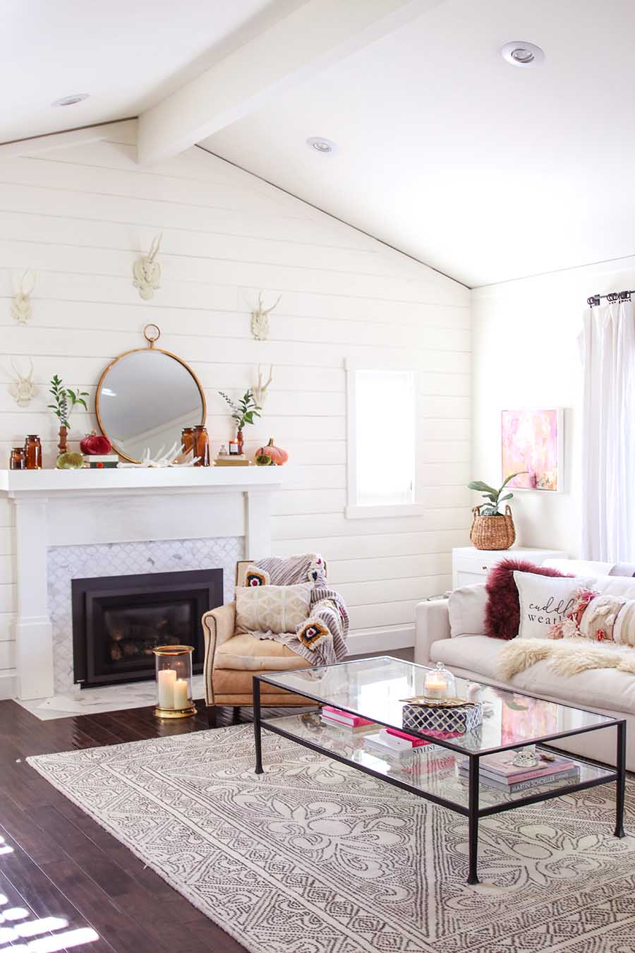 early fall mantel decorating ideas
