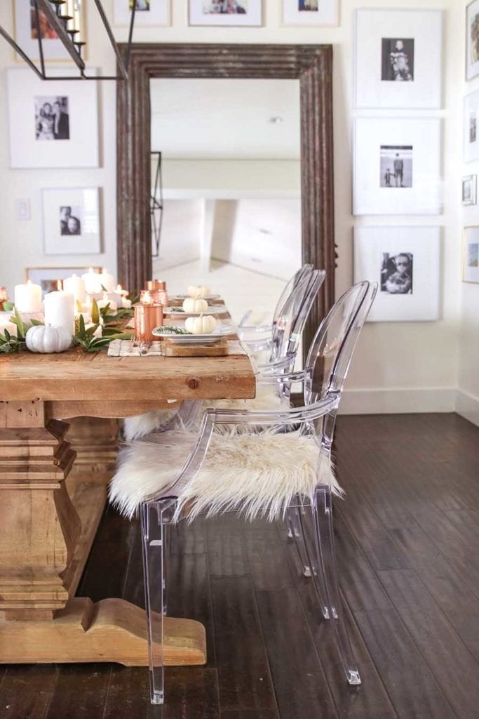 Neutral Fall Table Decor