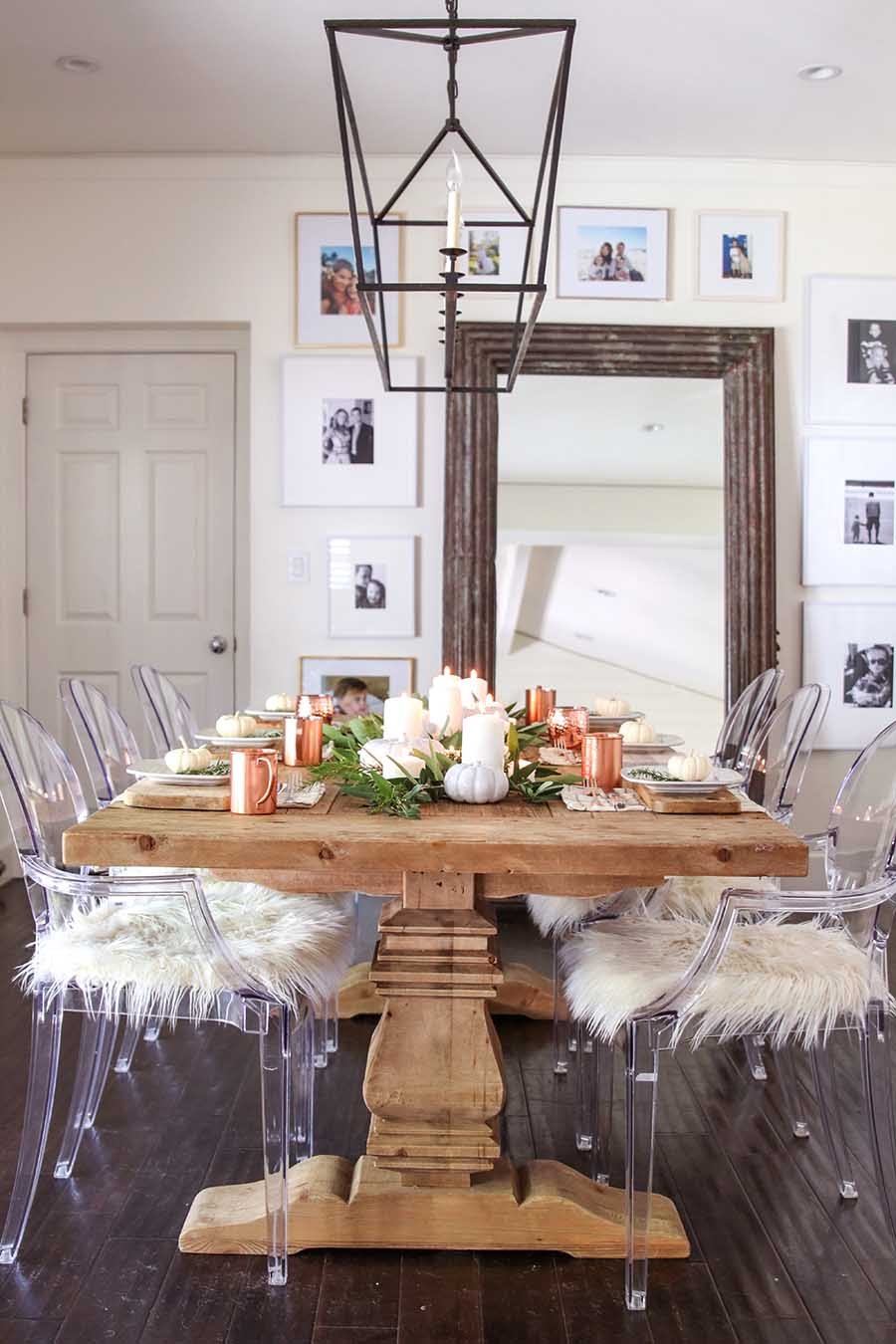 Modern Farmhouse Fall Dining Room Decor
