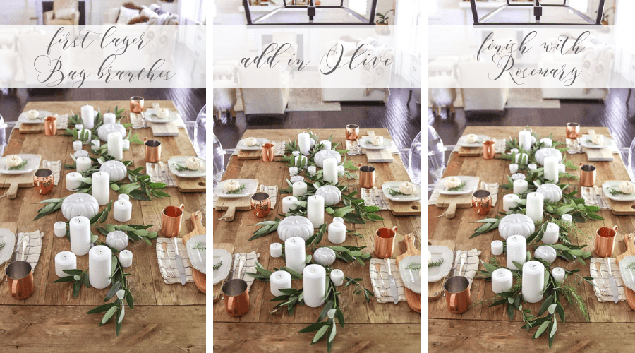 gall table garland diy