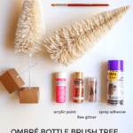 Ombre Bottle Brush Tree DIY Supplies