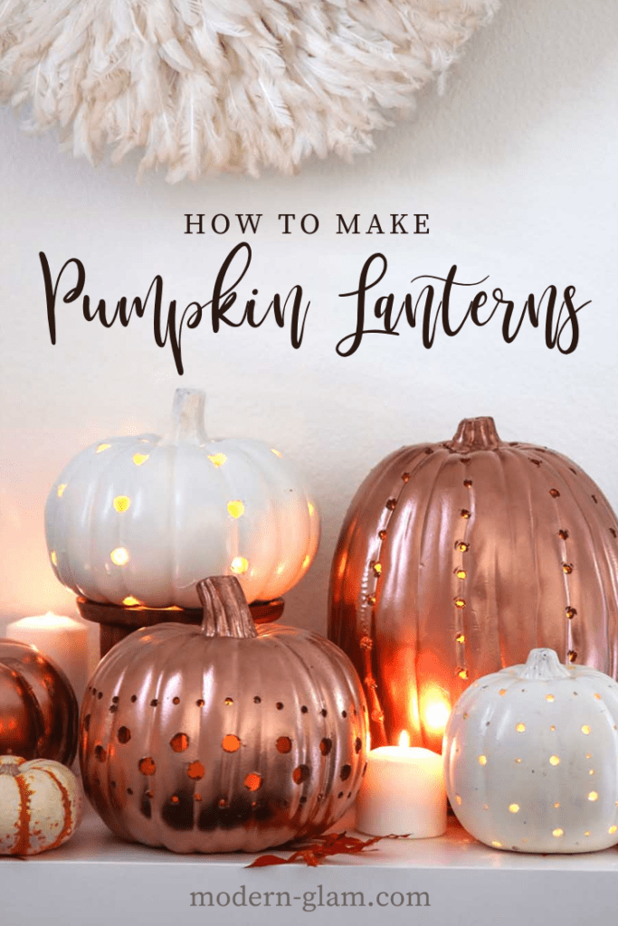 how to make pumpkin lanterns