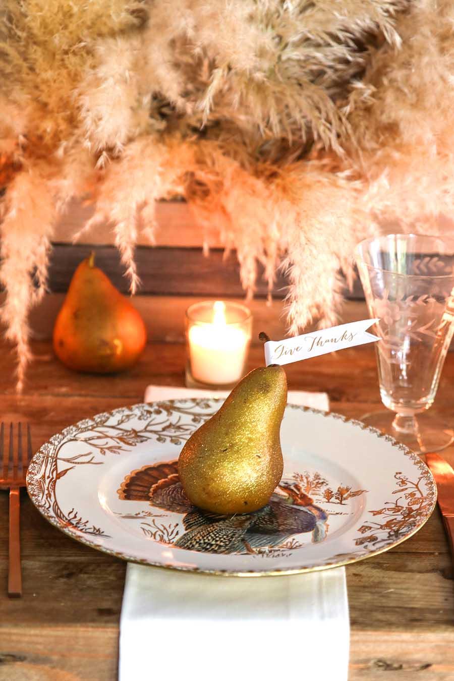 Neutral Thanksgiving Table Idea