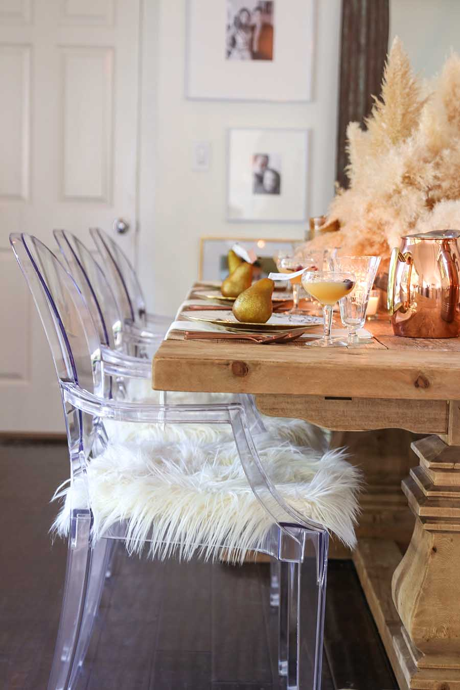 Golden Thanksgiving Tablescape