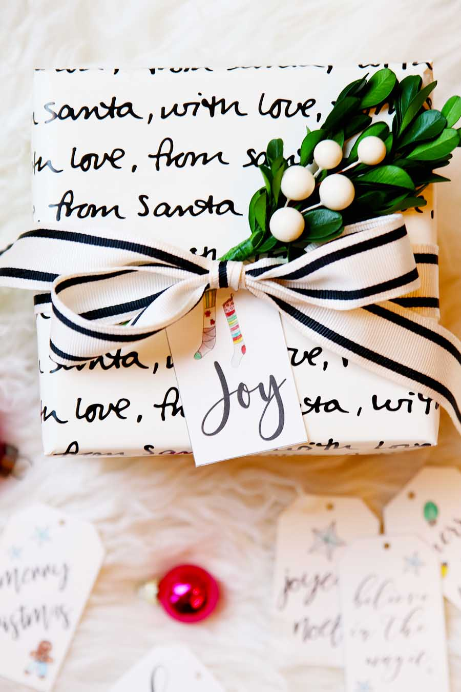 image relating to Printable Santa Gift Tags called Hand Lettered Xmas Present Tags - Totally free Printable - Innovative Glam