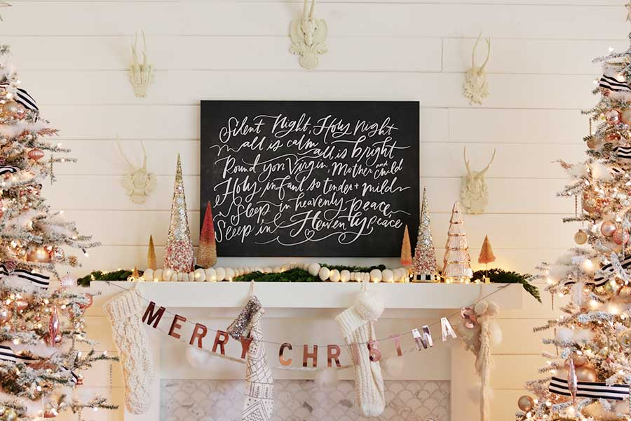 Modern Farmhouse Rose Gold Christmas