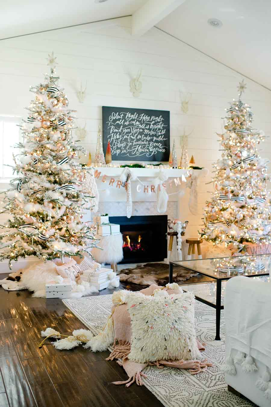 blush and copper Christmas