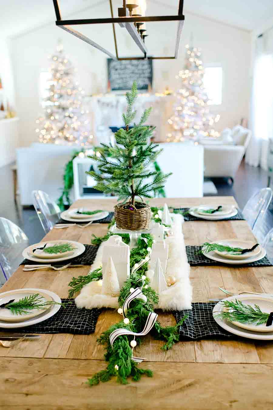 Modern farmhouse christmas table tips for creating a - Modern christmas table settings ideas ...