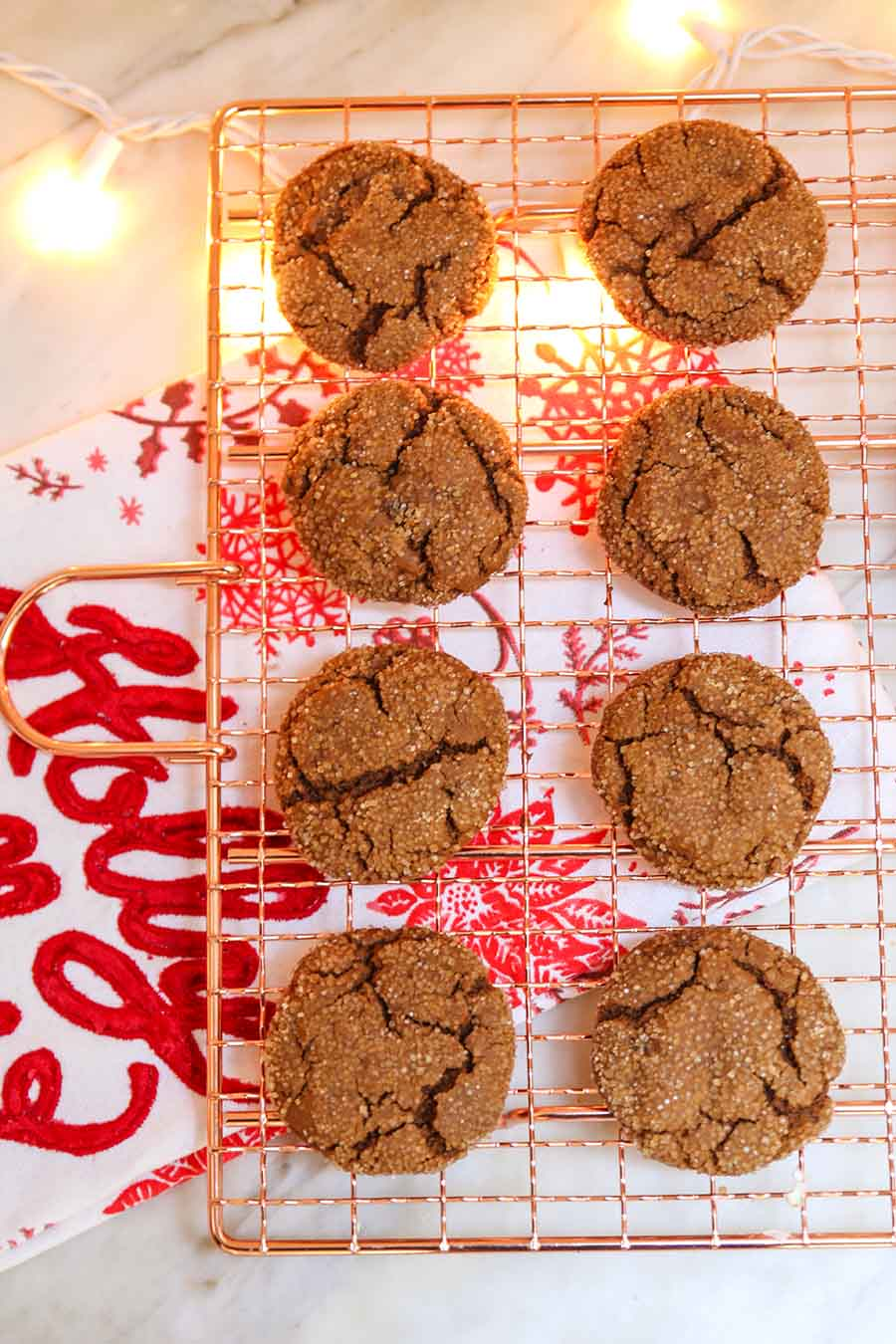Spicy Chewy Ginger Molasses Cookies