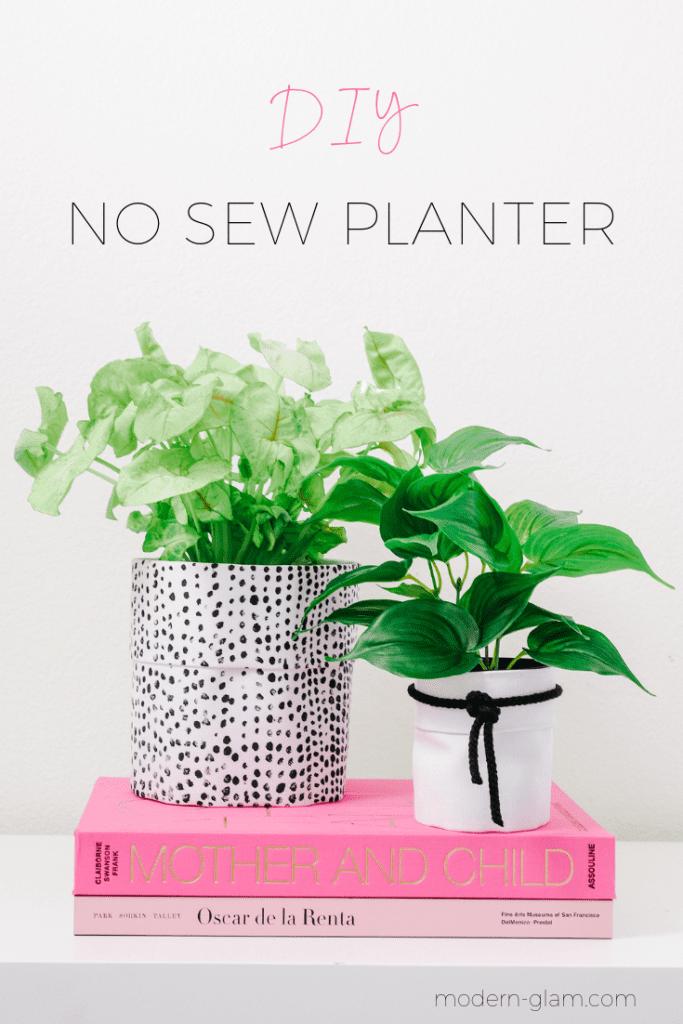 no sew planter fabric pot