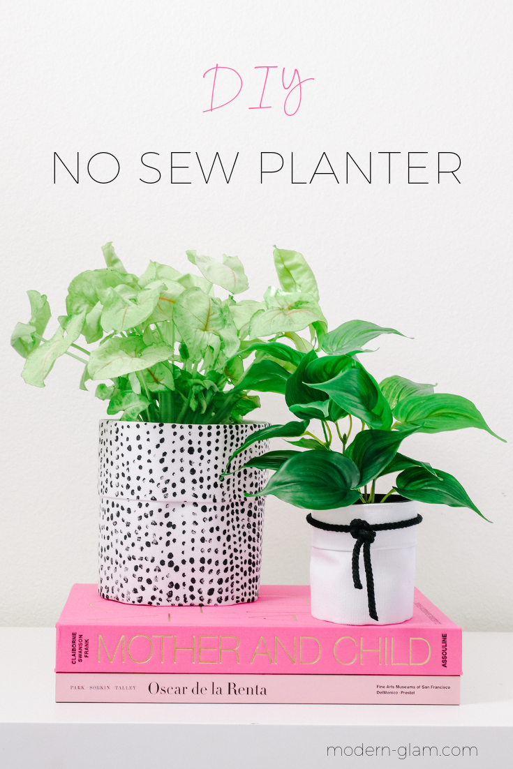 no sew planter fabric pot