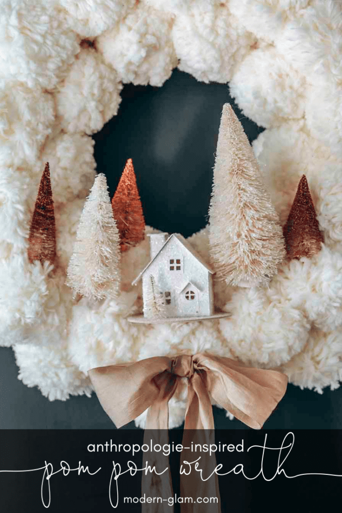 anthropologie pom pom wreath