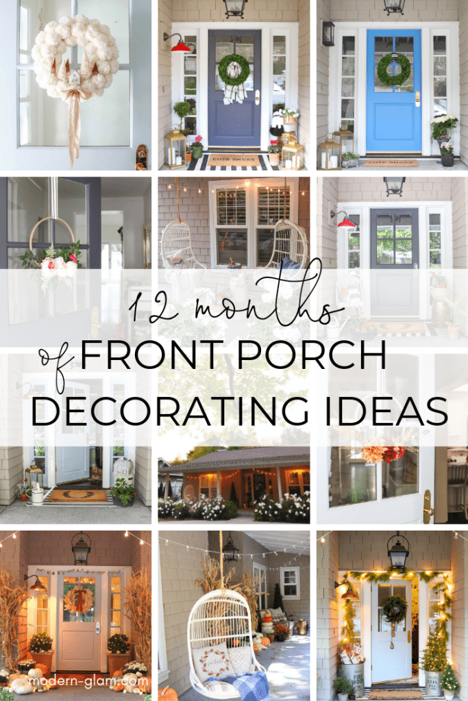 12 months of porch decorating ideas