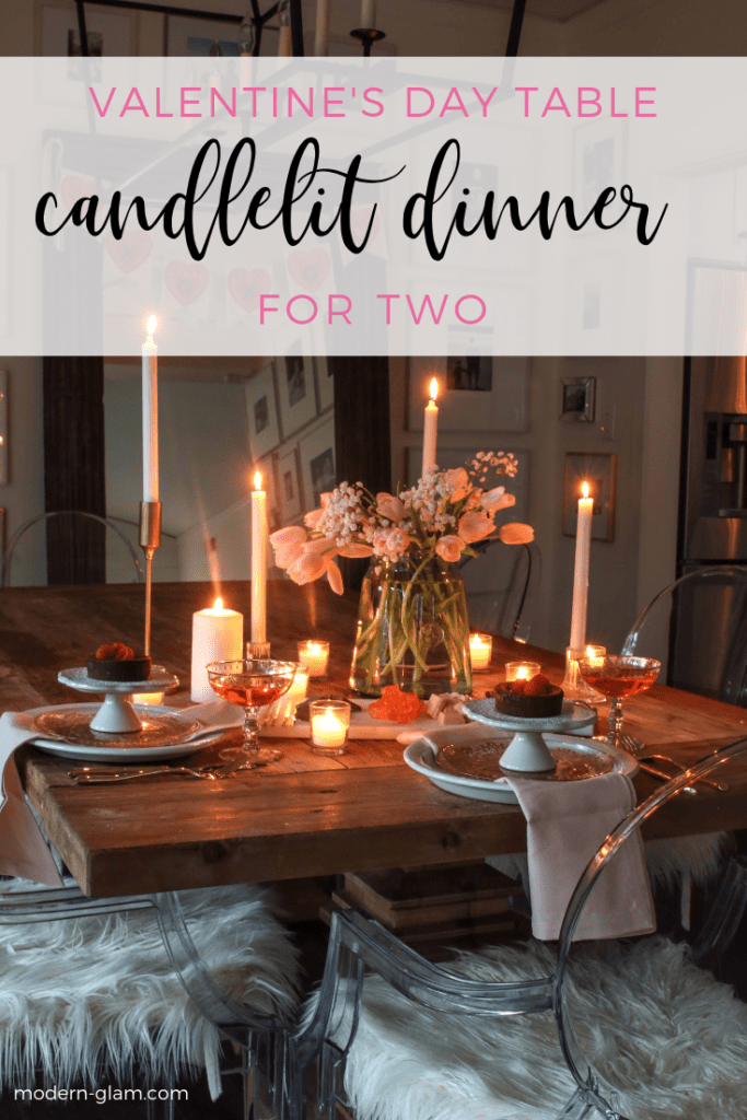 valentine's day candlelit dinner for 2