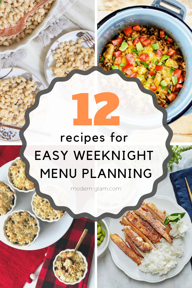 weeknight meal planning recipes