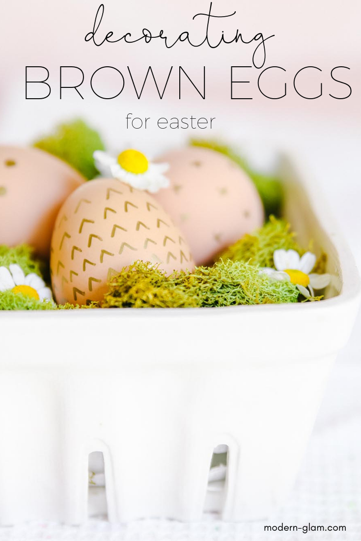natural brown easter eggs