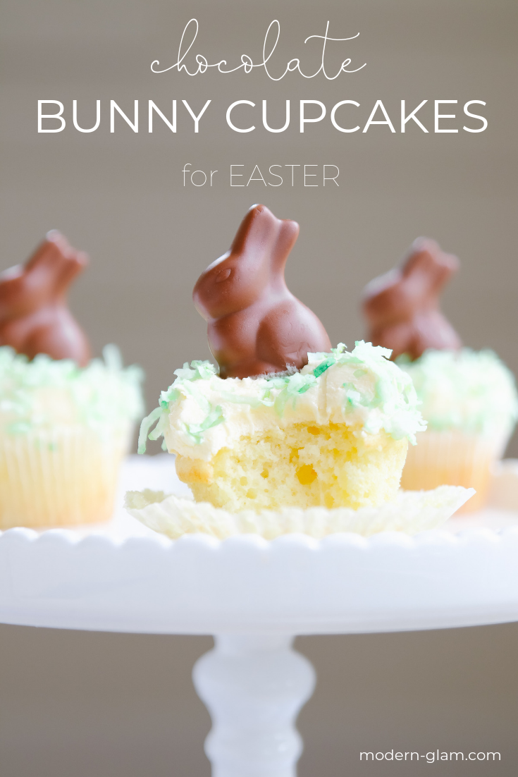 chocolate bunny cupcakes
