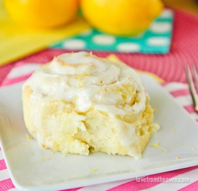 lemon rolls with icing