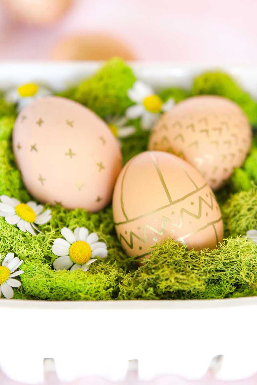 decorating with brown eggs for easter