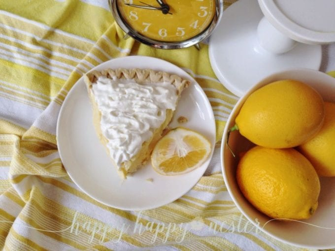 lemon pie with sour cream