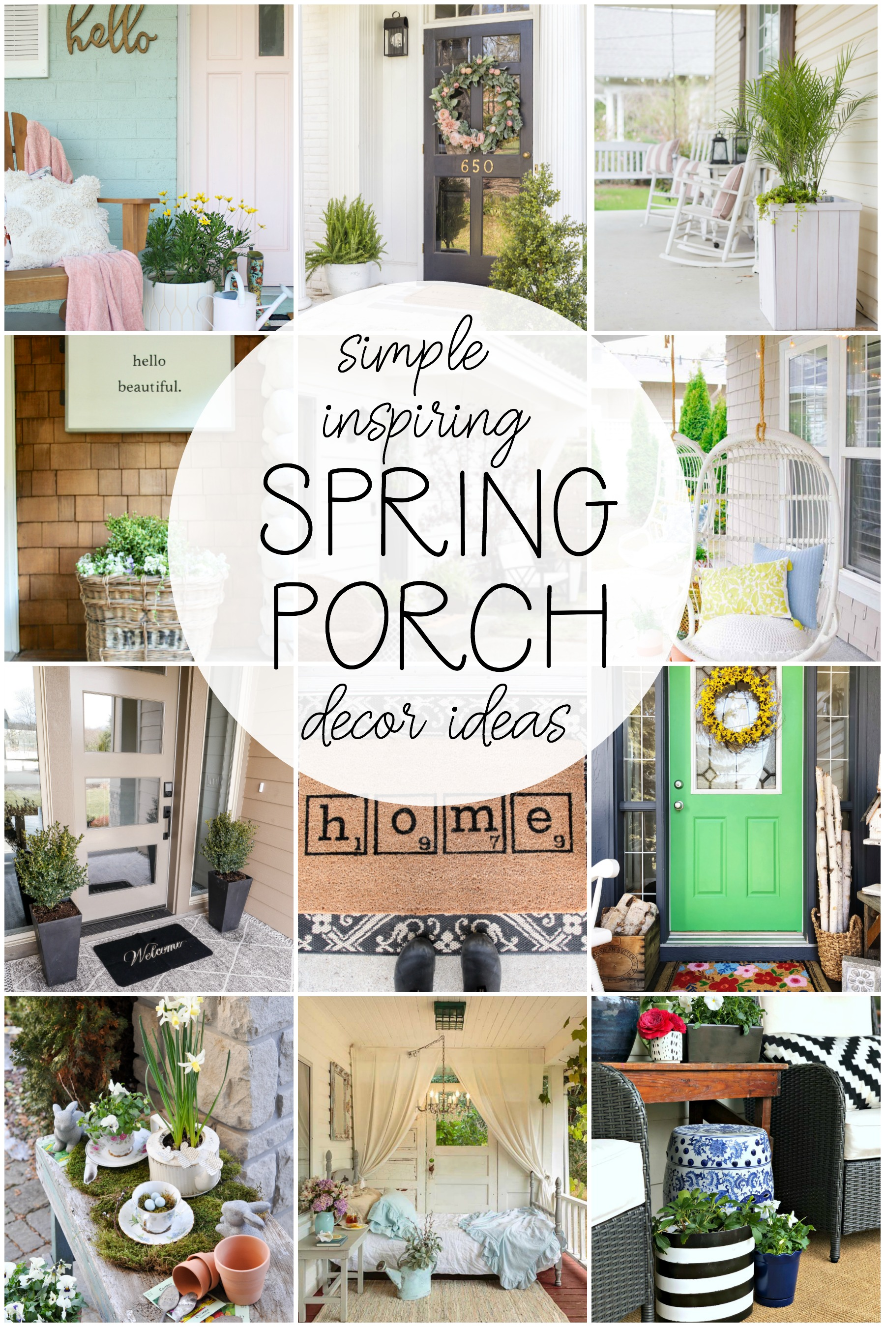 spring porch decor ideas via @modernglamhome