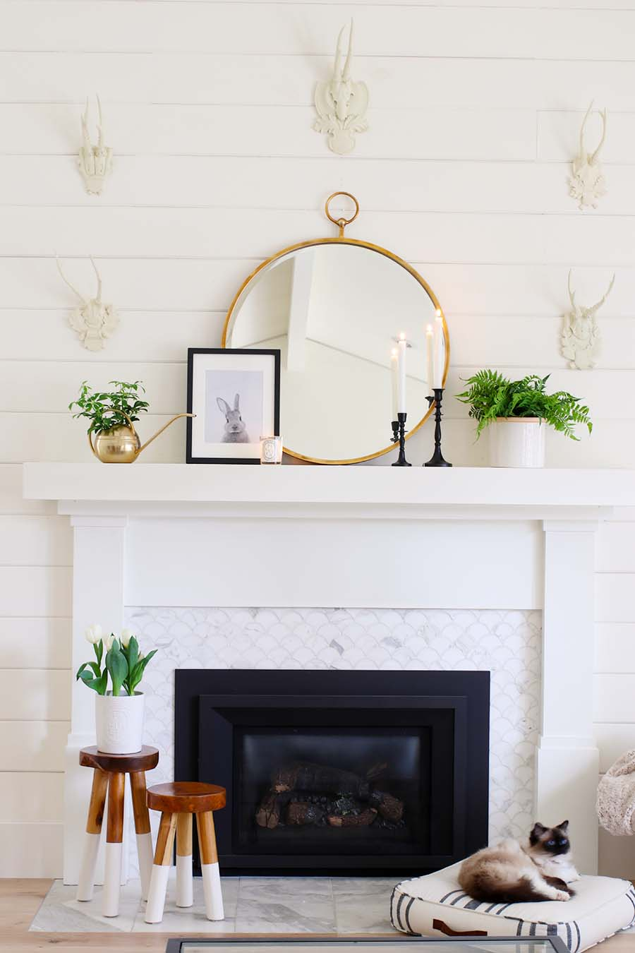 Mantel Decor For Spring Modern Glam