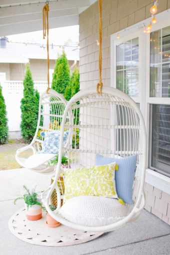 stylish front porch