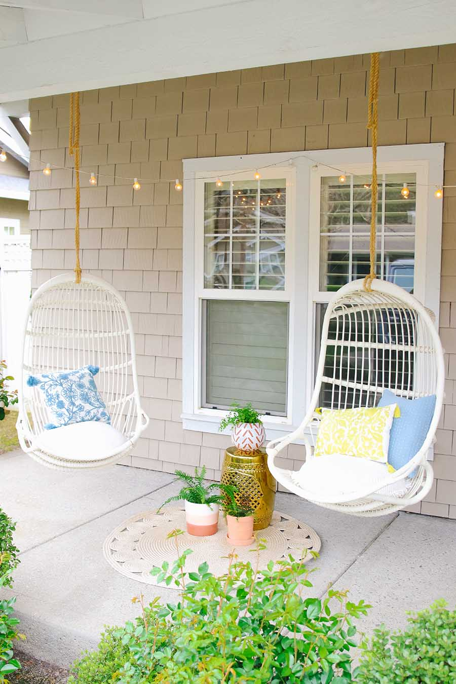 stylish porch for spring