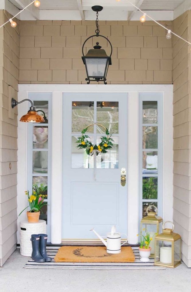 Stylish front porch for spring
