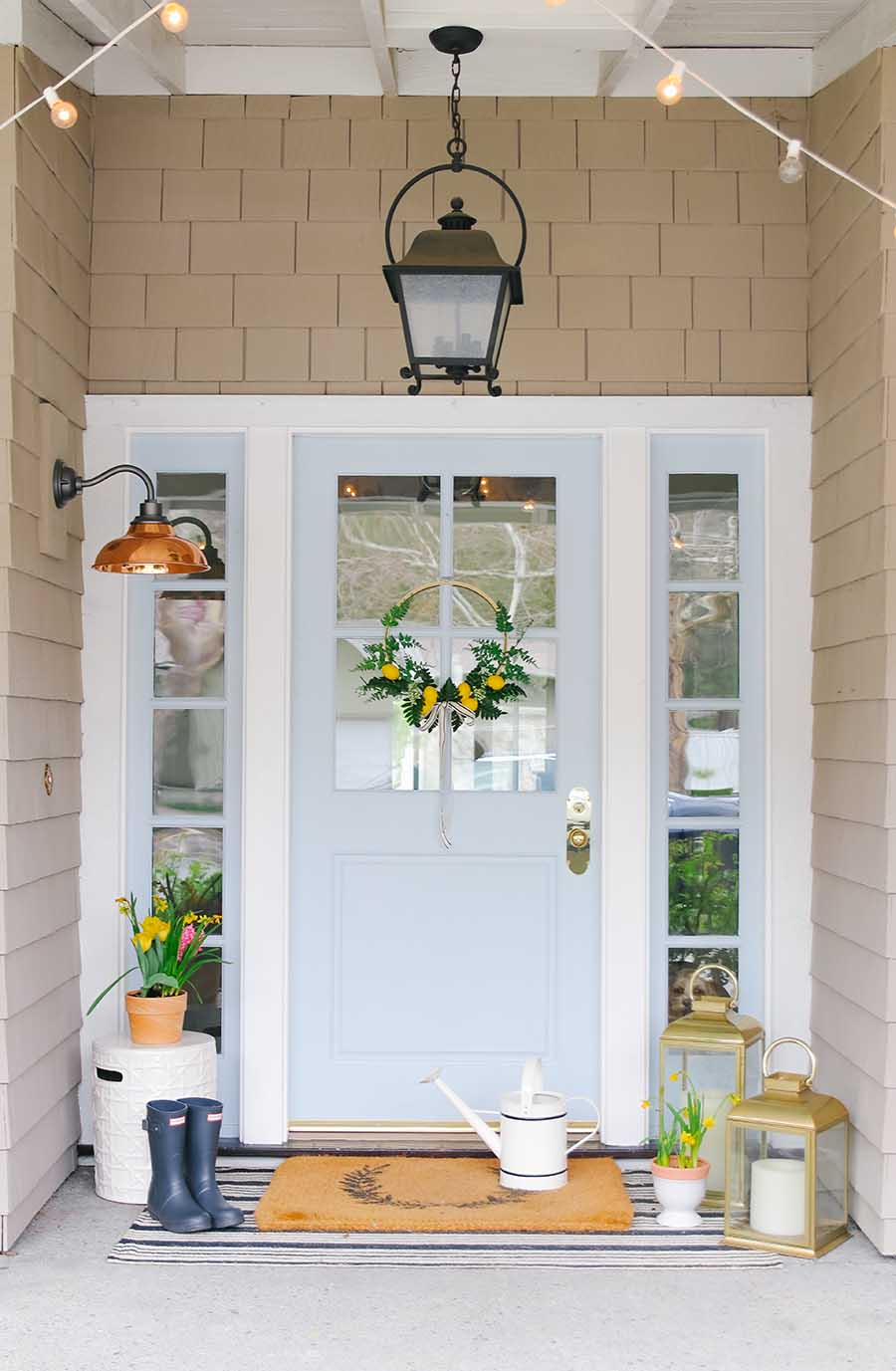 Awesome My Simple But Stylish Front Porch For Spring Modern Glam Home Interior And Landscaping Fragforummapetitesourisinfo