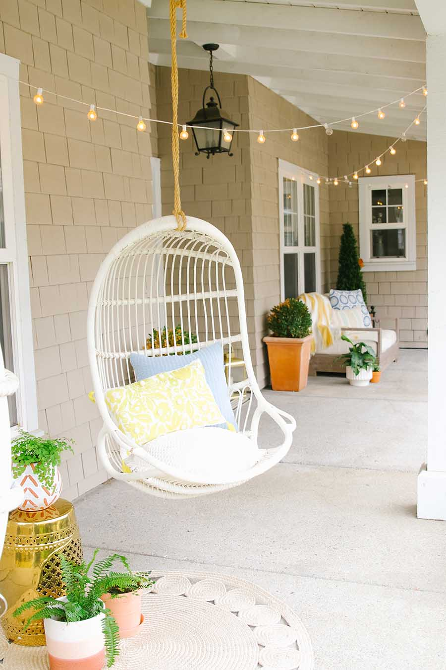 simple spring porch decorations