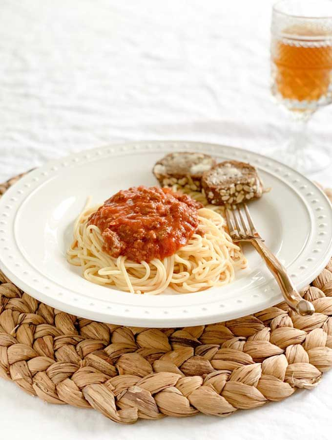 savory spaghetti for weeknight dinner